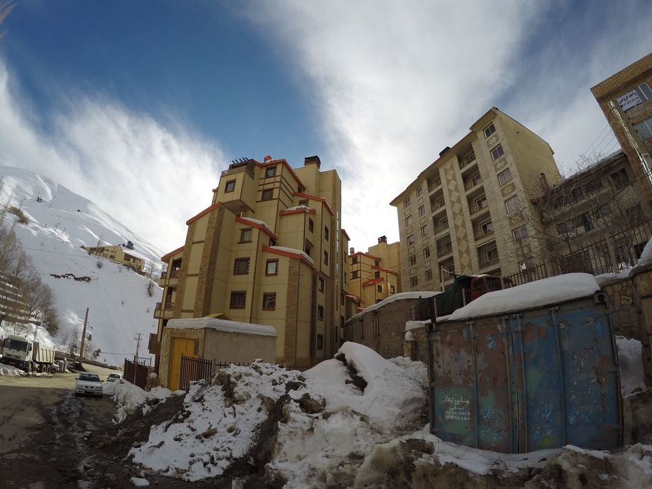 Iran Shemshak Snow Mountain Outdoors Built Structure Winter Cold Temperature Sky Weather Building Exterior Architecture Low Angle View Day No People Nature Travel