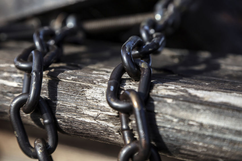 Chain Metal Security Strength Close-up No People Indoors  Day
