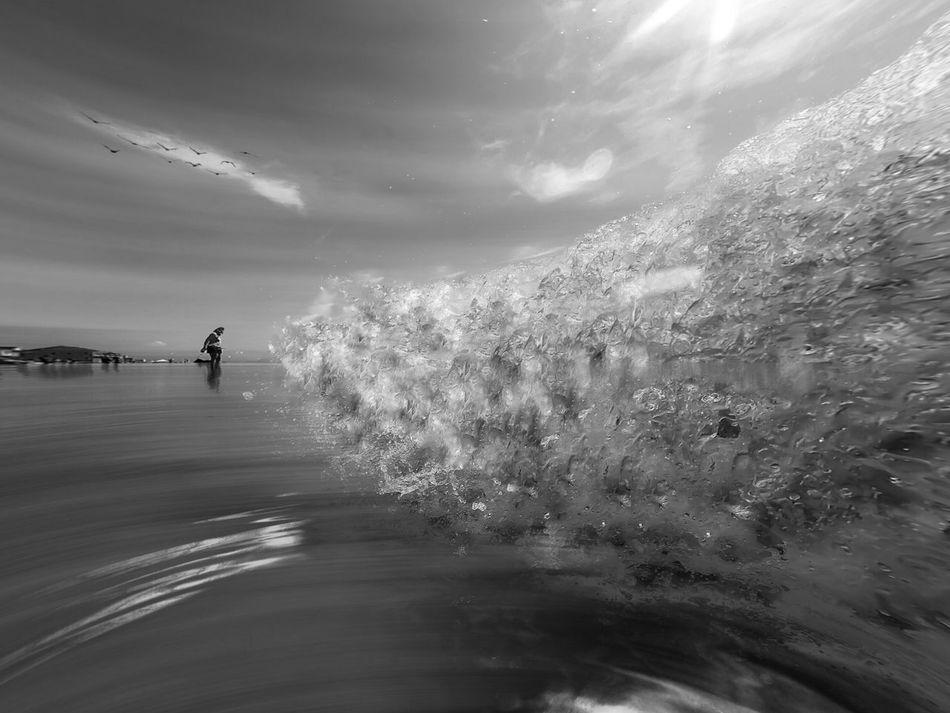 Misquamicut Beach Rhode Island Shot on GoPro Hero 4, Edited on iPhone 6plus www.eSantosStudios.com 25-Sept-2015. Blackandwhite Photography Black & White Black And White Photography Black And White Blackandwhite Gopro Goprohero4 Goprooftheday GoPrography NEM Black&white The Essence Of Summer