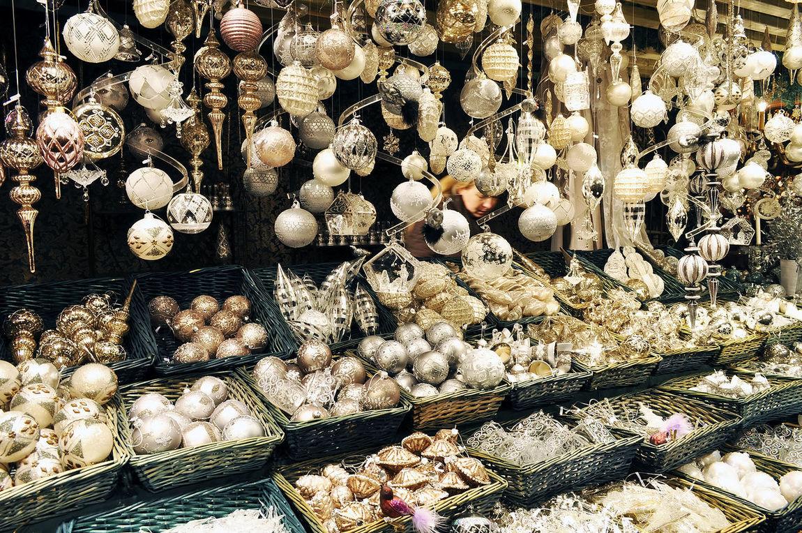 Christmas Globe Close-up Day Globe Large Group Of Objects Market No People Object Sale Viena Viena, Austria Wien