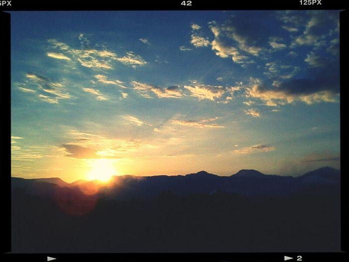 E o sol surgiu...