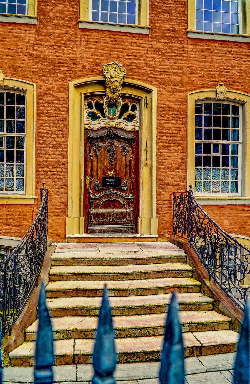 Architecture Building Exterior Built Structure City Cultures Eingang Entree Façade Hdrphotography Hi No People Outdoors Place Of Worship Red Town Hall Rotes Rathaus Spirituality Street