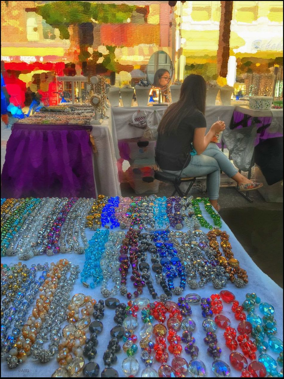 Baubles - 7/16/16 As I Sees It EyeEm StreetPhotography, NYC Fine Art Photography Fresh On Market July 2016 IPhone Creative Edits W/ Snapped 'n' Enlight Multi Colored Opportunistic Images On The Go Street Fair NYC