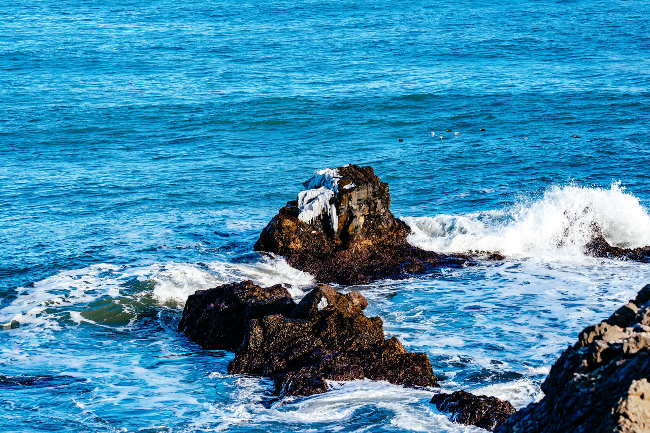 sea, rock - object, water, nature, no people, wave, beauty in nature, blue, outdoors, day