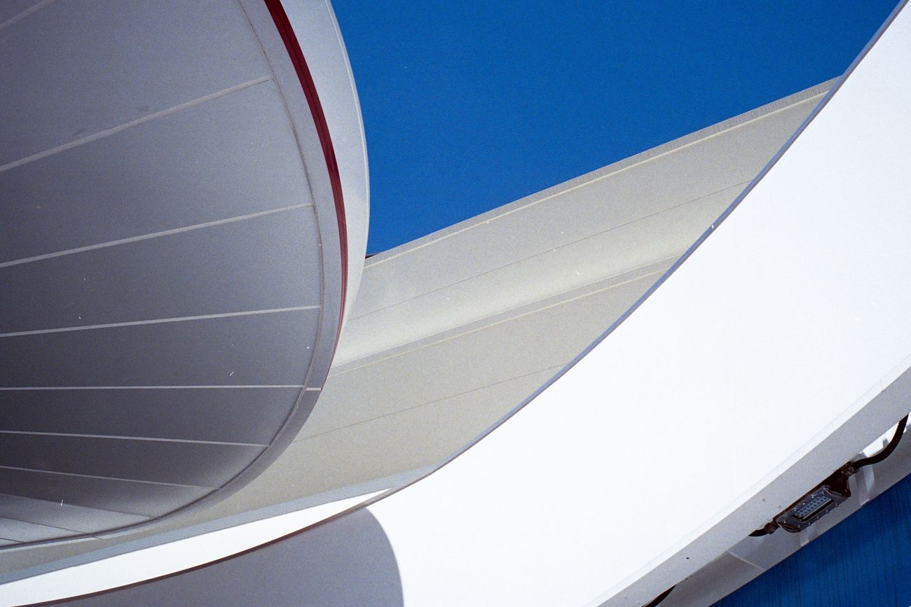 Low Angle View Architecture Built Structure Clear Sky Sky Day Modern Blue Outdoors No People Architectural Feature