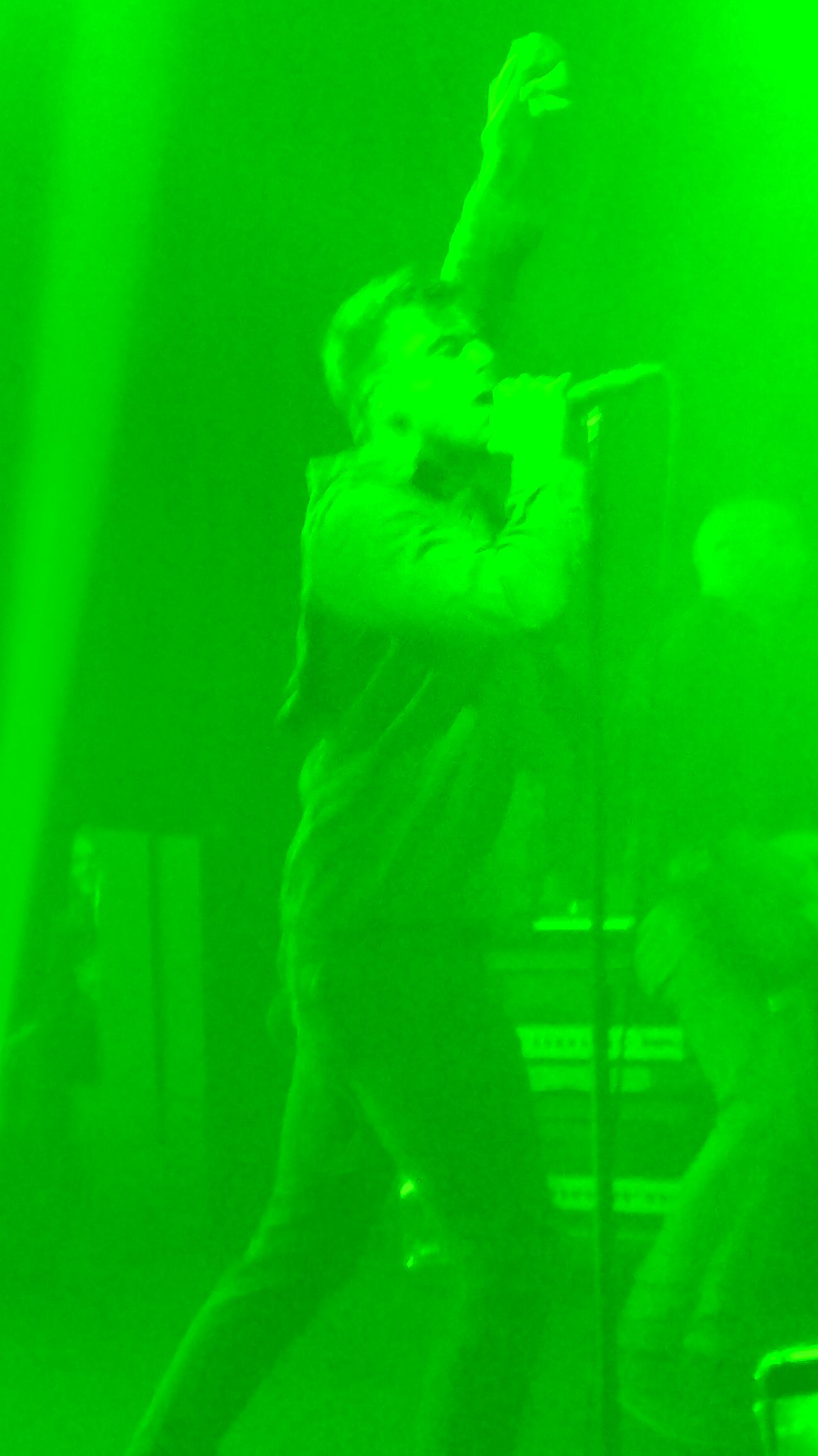 Lemon Lime By Motorola Accidental Camera Malfunction Concert Photography Anthony Green Circa Survive Music Worship