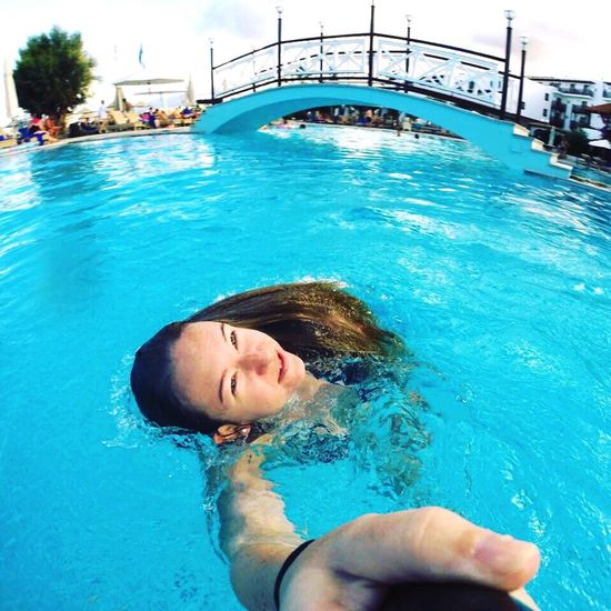 Crete Water Swimming Pool Vacations Summer Gopro GoPro Hero3+ Smiling Real People Floating On Water Happiness Relaxation Lifestyles Justforfun Justforfun♡ Travel Destinations Travel Travel Photography