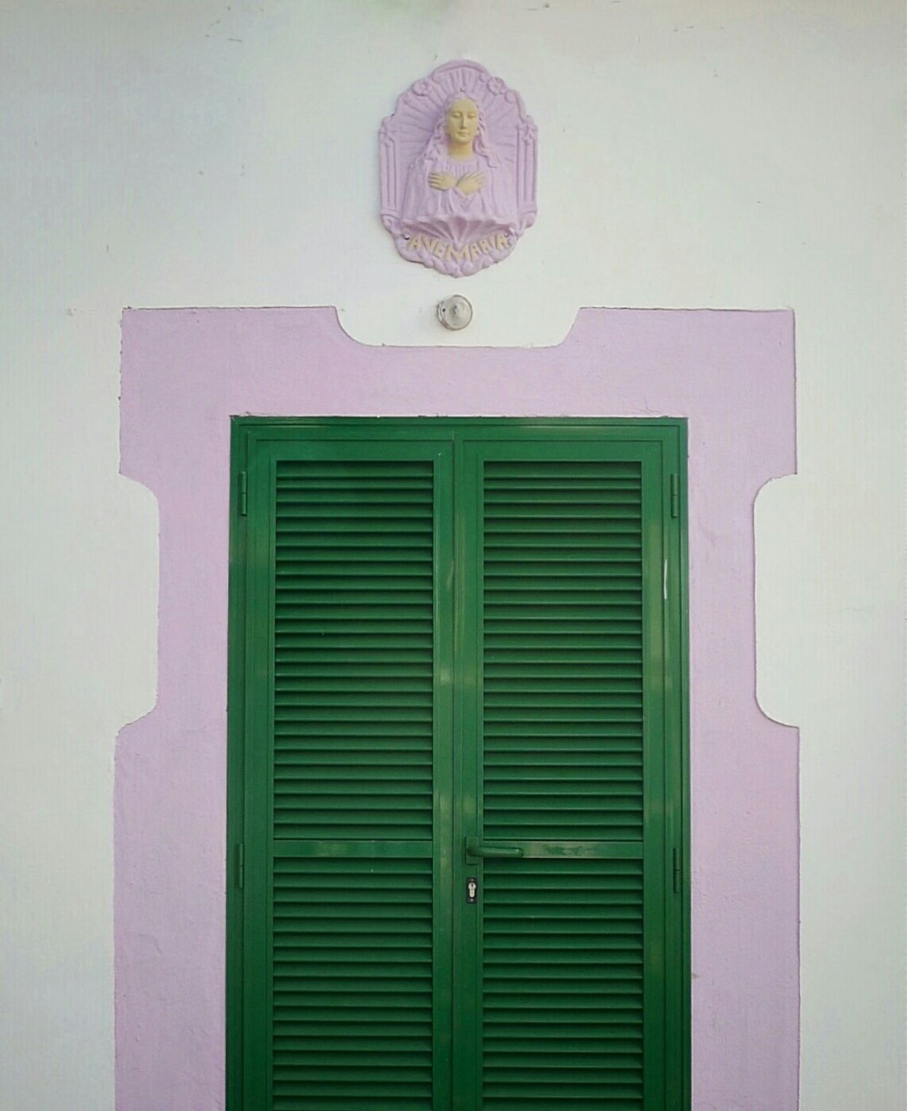 Doors Lover Madonna Closed Door Green Andpink Serenity & Tranquility Outdoor Photography No People Minimalism #minimalist #minimal #TagsForLikes #minimalistic #minimalistics #minimalove #minimalobsession #photooftheday #minimalninja #instaminim #minimalisbd #simple #simplicity #keepitsimple #minimalplanet #love Instagood Minimalhunter Minimalista M [a:11320443] detail of fAcade Green And Pink Colour Religion, Virgin Mary, Catholic, Christian,
