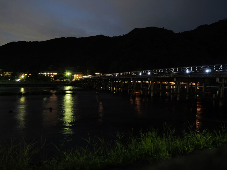 Night Illuminated Reflection Water River Nautical Vessel Business Finance And Industry Outdoors Arrival Nature Sky No People EyeEm Gallery EyeEm Nature Lover Enjoying Life Kyoto Life Mountain Japan Photography EyeEm Best Shots Kyoto NIght Lights Light Light And Dark Night Light Night Photography