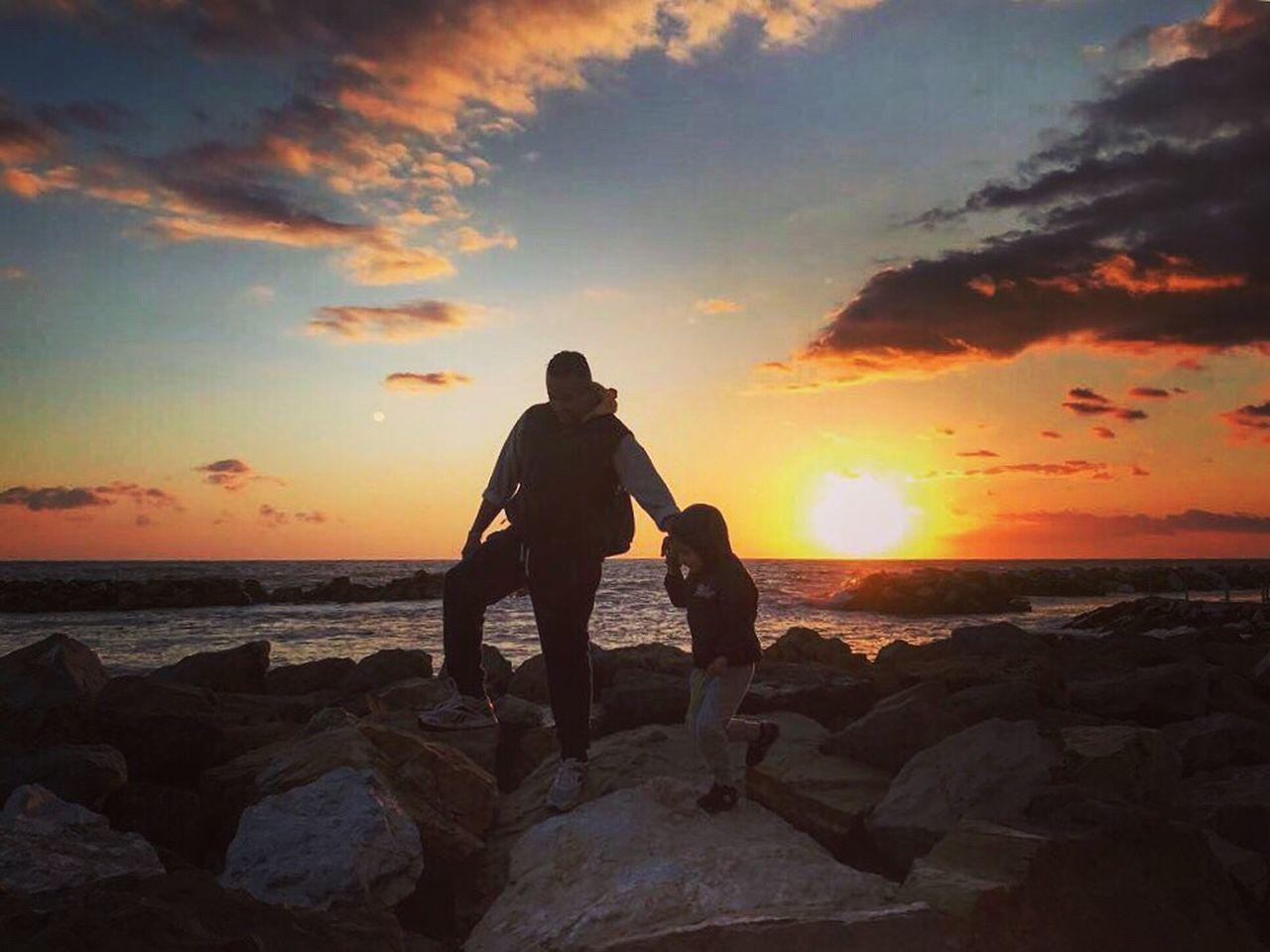 Sunset Sky Sea Beach Tranquil Scene Love Together Baby Father Igerspisa Igersitalia Igerstoscana Igers Likeforfollow Like4like