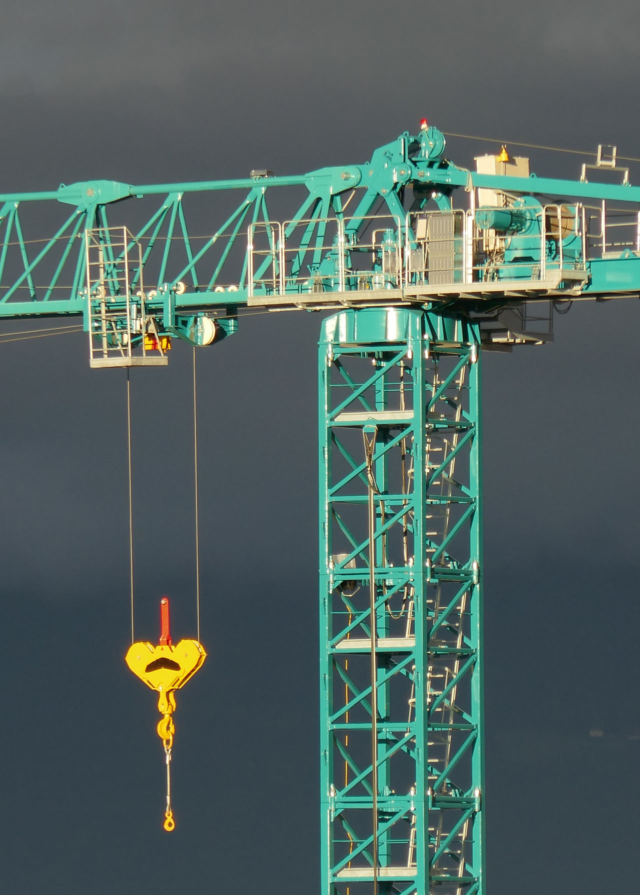 Architecture Built Structure Construction Crane Development Engineering Green Color Outdoors Switzerland