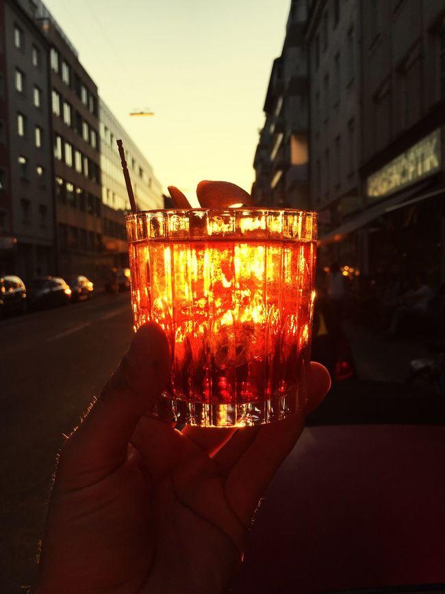 Sundowner Sunset Enjoing Life Americano Drinks
