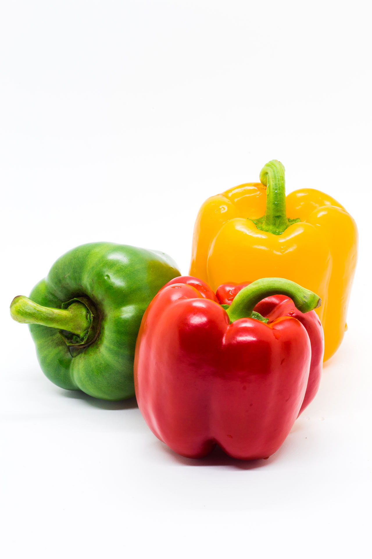 Bell Pepper Close-up Food Freshness Green Bell Pepper Healthy Eating Multi Colored No People Red Red Bell Pepper Studio Shot Variation Vegetable White Background