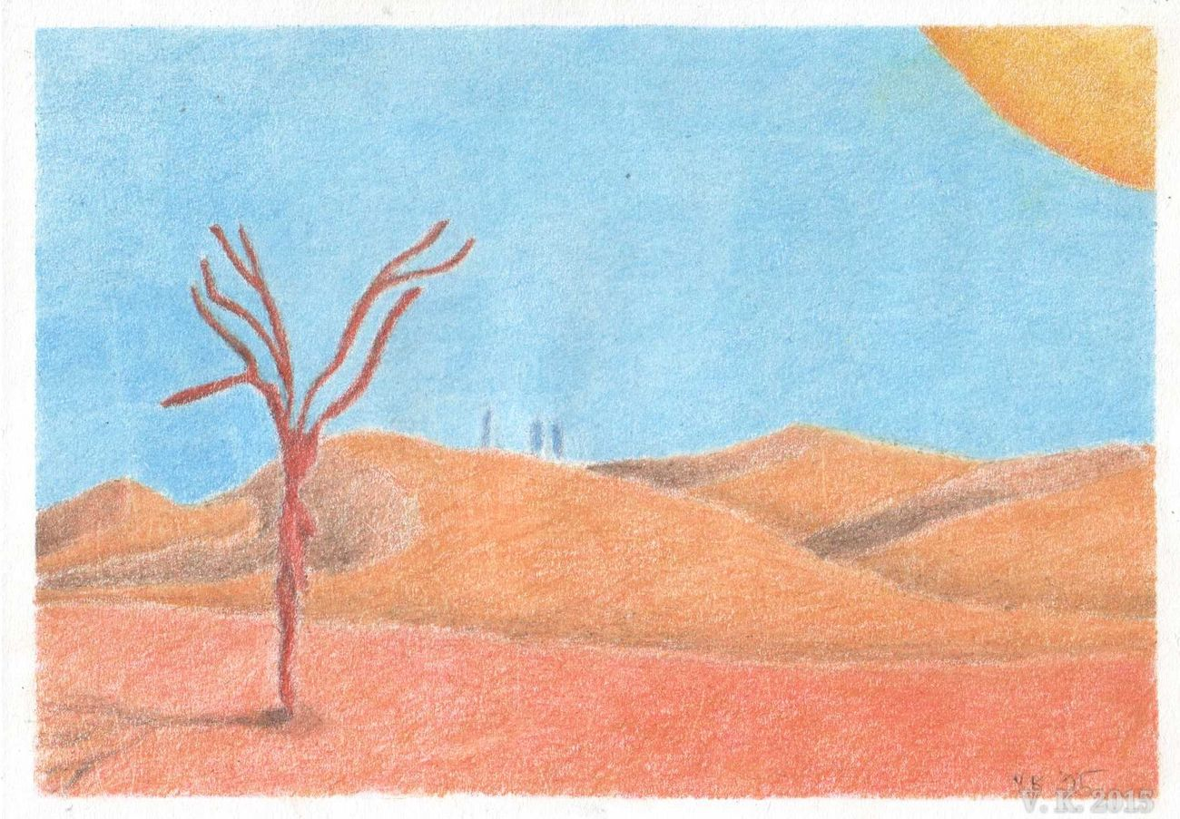 The last tree on earth - a colourpencil drawing - my newest work Colourful Pencil Drawing Germany Now Online Showing Why I Could Be An Open Editor Surrealism My Traditional Art Traditional Art Drawing MyArt