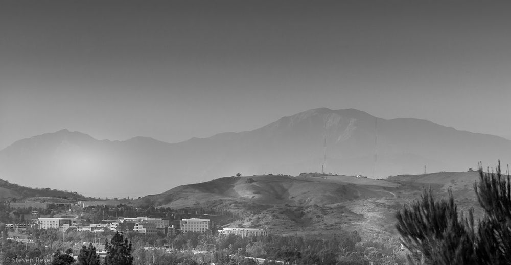 Photo of the highest point in Los Angeles County, Mount San Antonio often called Mt. Baldy, which is a part of the San Gabriel Mountain Range. Black And White Photography Blackandwhite Blackandwhitephotography Landscape Landscape_Collection Landscape_photography Los Angeles, California Majestic Mount Baldy Mountain Mountain Peak Mountain Range Mountain View Mountains Nature No People San Gabriel Mountains Valley