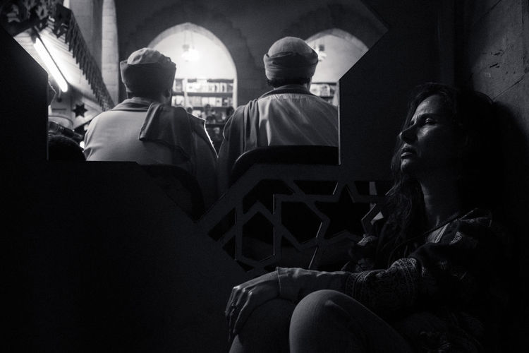 from el Hadra Concert Black & White Music People Watching Woman Black And White Blackandwhite Blackandwhite Photography Layers People People And Places People Photography Sufi