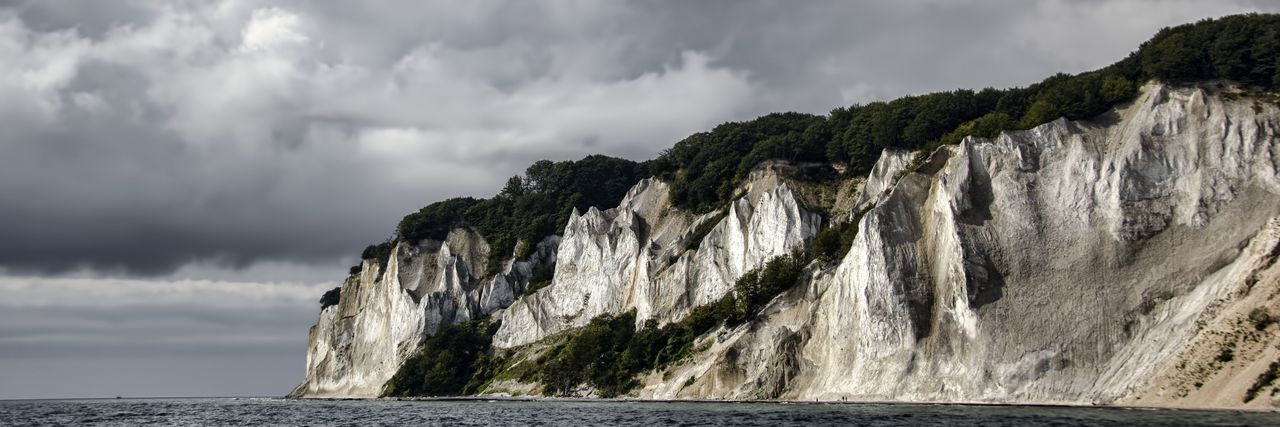 Calm Water Chalk Cliffs Denmak Island Møn Monochrome Sea And Sky Sea View Seascape Seaside Sky And Clouds Sky_collection Neighborhood Map Lost In The Landscape An Eye For Travel