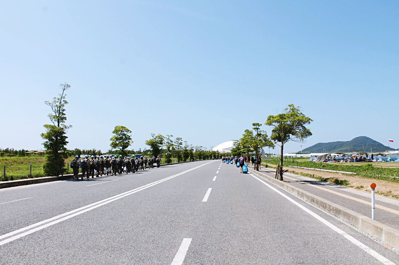 Clear Sky Tree Road Scout Japan Jamboree Blue Day Nature Sky
