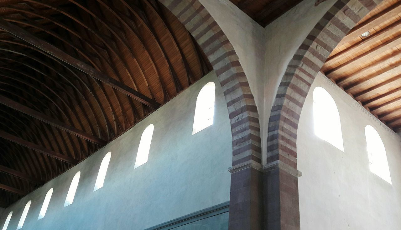 Monastery Convent Church Architecture Low Angle View Built Structure Day Indoors  Historical Building History Roof Lines Patterns Symmetry Old Style Insel Reichenau Architectural Detail Old Architecture Lines And Shapes Roof Timbers Old Buildings Ceiling Design Patterns Everywhere Ceiling