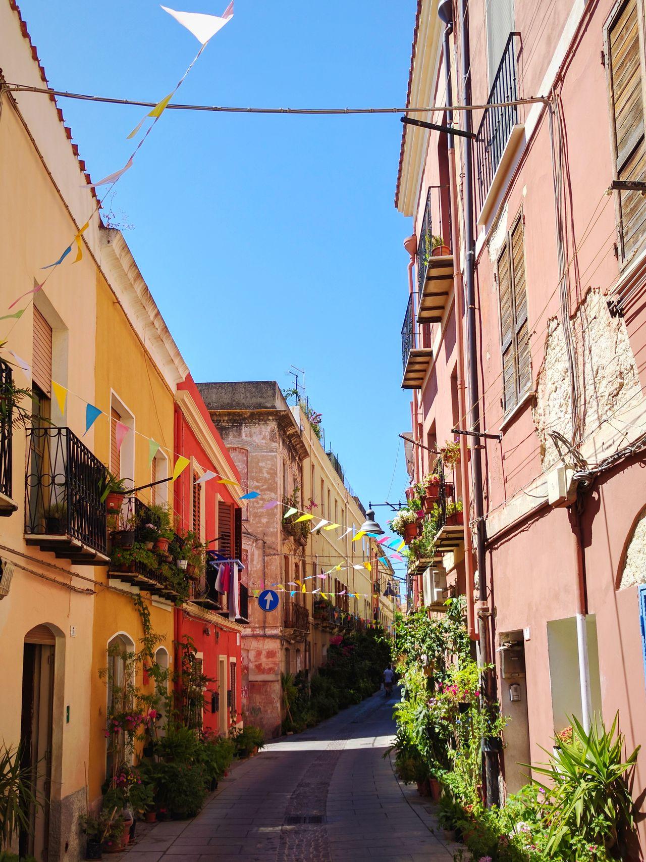 Travel Destinations Sky Architecture City Day Outdoors No People Bella Italia Cagliari, Sardinia The Way Forward Vanishing Point