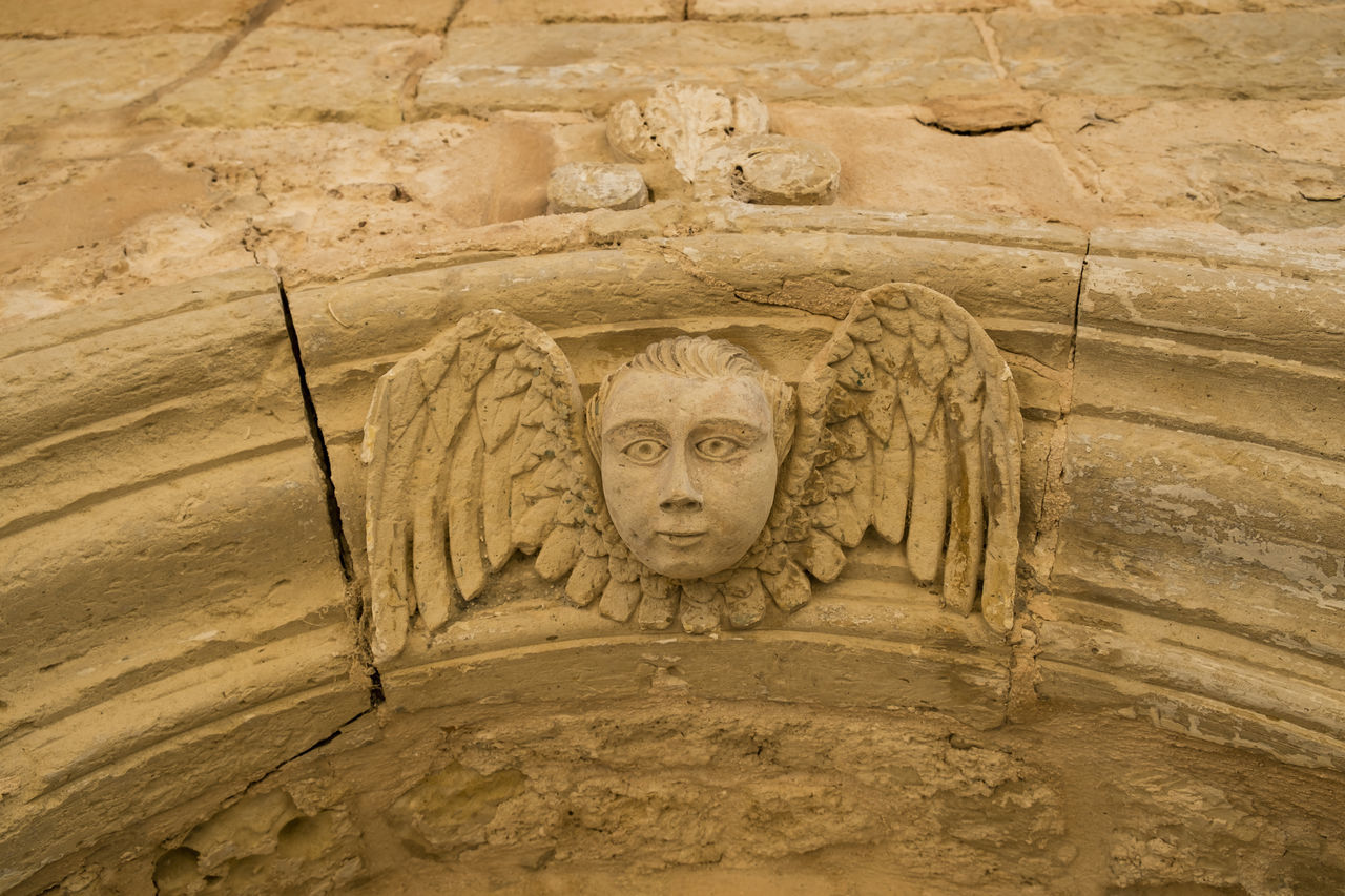 Ancient Ancient Civilization Ancient Ruins Angel Art And Craft Bas Relief Basrelief Close-up Day Historic Human Representation No People Outdoors Religion Religions Religious  Religious Art Religious Icons Sand Sculpture Statue Stone