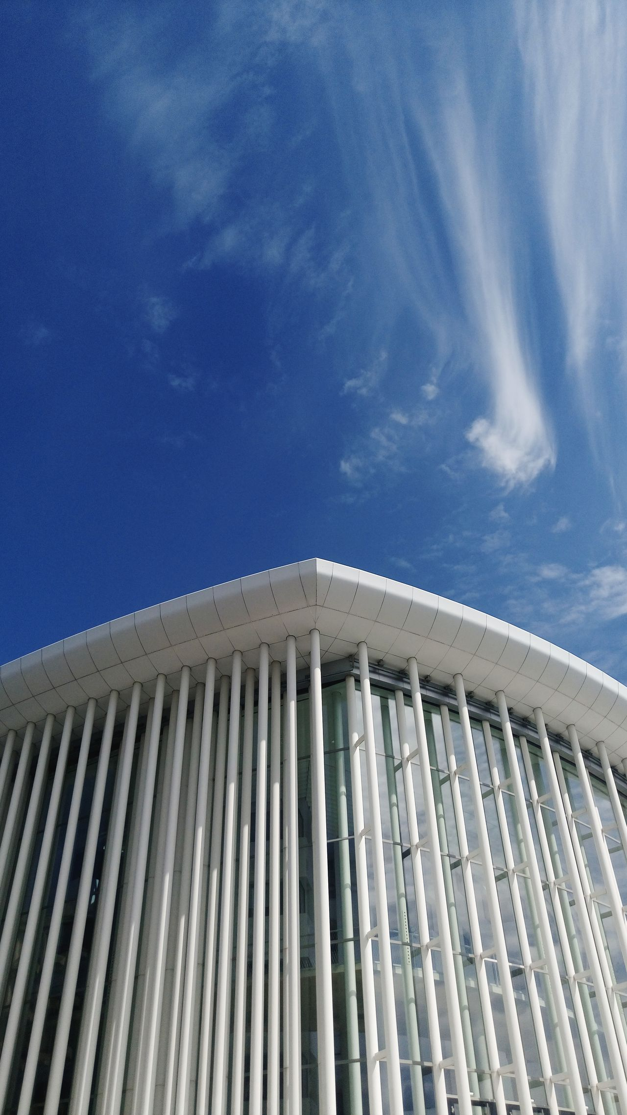 Sky Blue No People Low Angle View Cloud - Sky Day Architecture Outdoors Close-up Detail Design Luxembourg Harmony White White Building City Architecture Art City Street Photography EyeEmNewHere Luxembourg Streetphotography Luxembourg Philharmonic Philharmonie Nature Beach