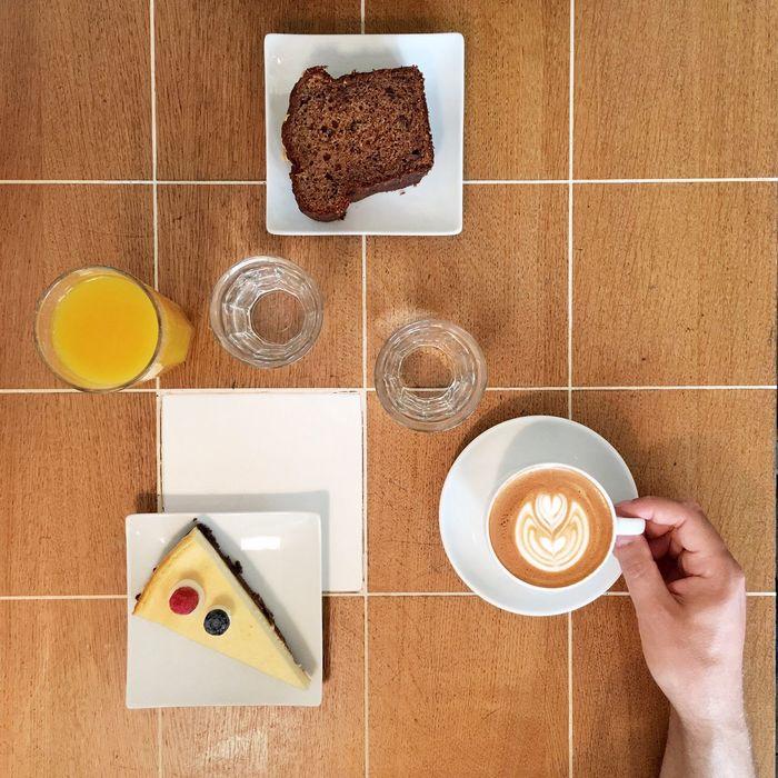 Coffee Cappuccino Cake Flat White Coffee Latteart Orange Juice  Banana Bread Cheesecake♥