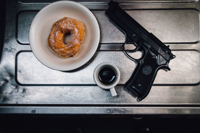 Gangsters Paradise Overhead View Assassin Breaktime In The Kitchen Something In The Dark Atmosphere Murder Killer Gun Donuts Coffee Still Life Light And Shadow Freelance Life Toy Photography Cinematic Photography Getting Inspired Grunge Dark My Favorite Breakfast Moment Quality Time My Favorite Photo Sink