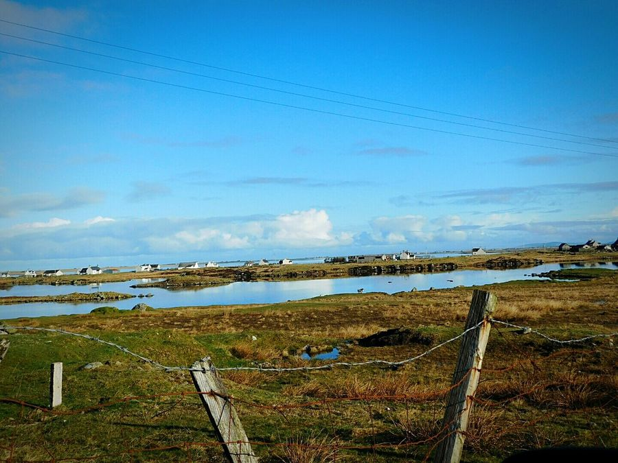 South Uist Scotland Takenbyme Taking Photos Still Blue Ocean View Seascape Sea View Sea And Sky Scottish Highlands Colours Of Nature Fences & Beyond Fence Photography Fenceline