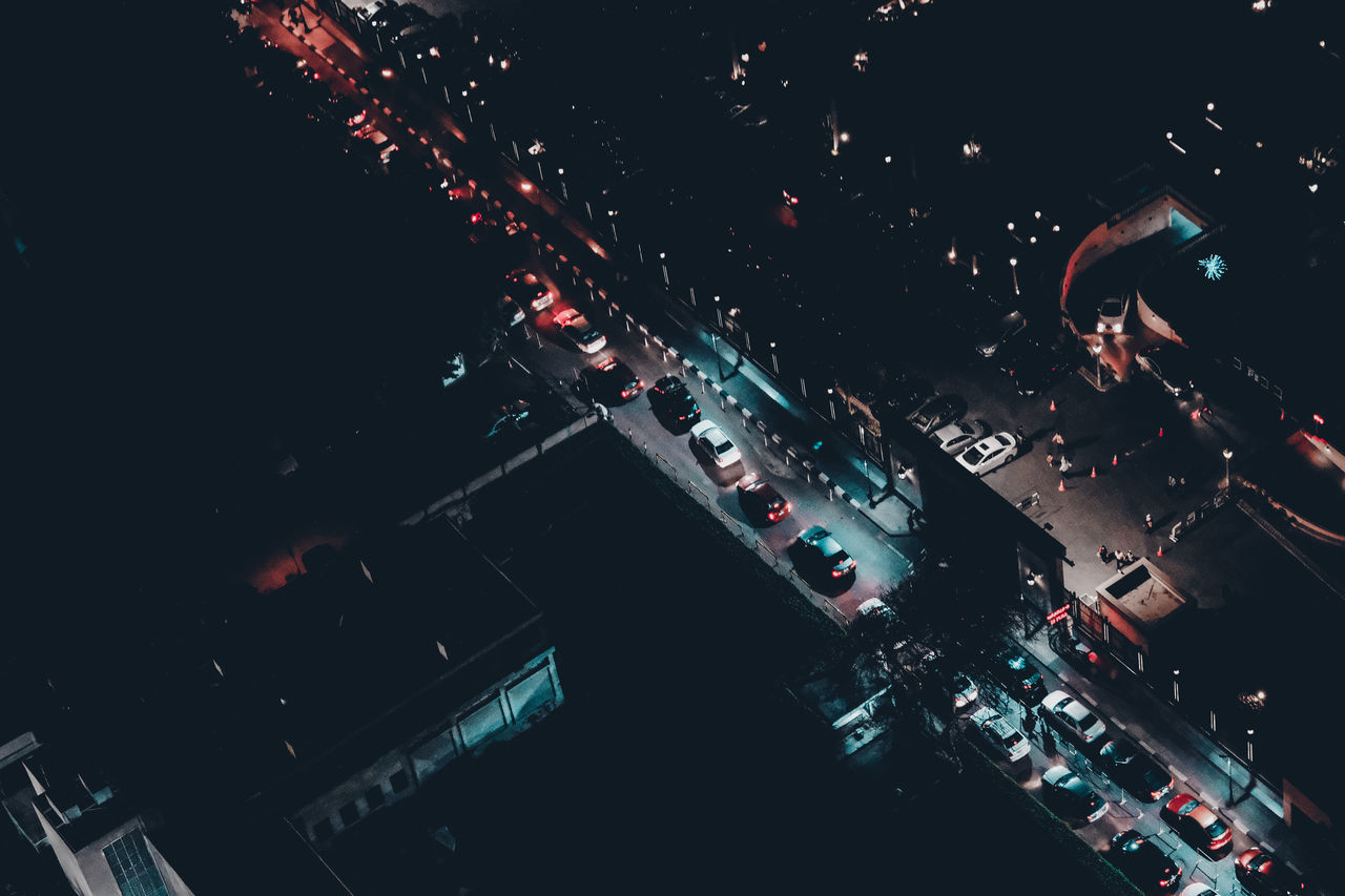 Aerial View Car Cars Check This Out City City Life City Street Cityscape Exceptional Photographs Eye4photography  EyeEm Best Shots First Eyeem Photo Flying High Garden Illuminated In A Row Land Vehicle Night No People Outdoors Overview Popular Photos Queue Street Transportation