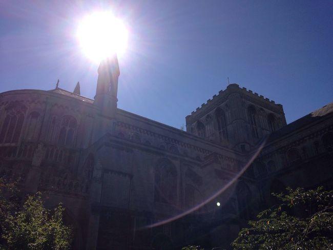 Historic Architecture Building Exterior Sun Clear Sky Sunbeam Blue
