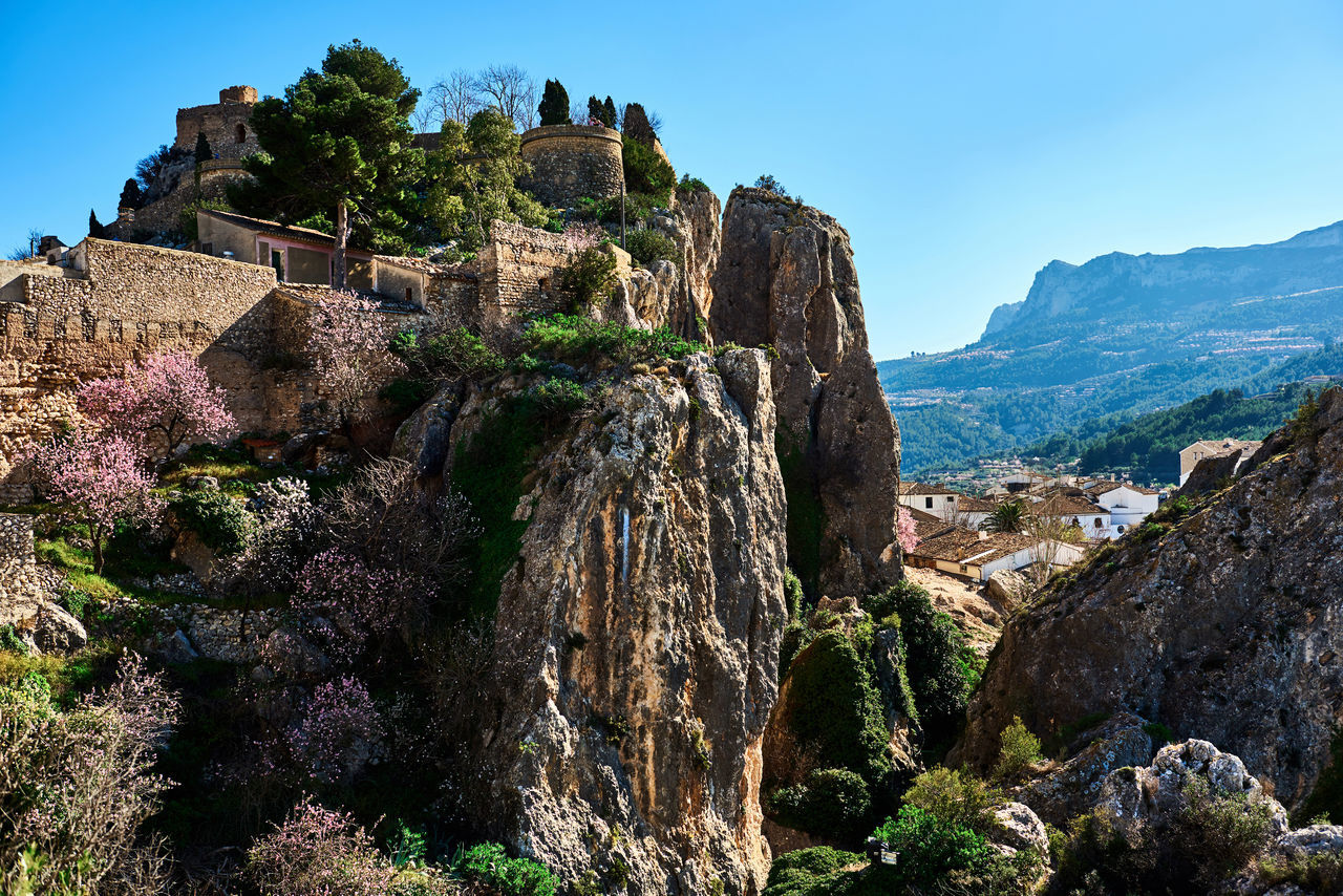 Guadalest castle on a rock. Guadalest is a small village on the Costa Blanca, the most visited village in Spain Alicante Ancient Architecture Beauty In Nature Castle Cliff Costa Blanca Europe Fortification Fortress Guadalest Spain Hilltop Landmark Landscape Marina Baixa Mountains Nature Outdoors Picturesque Village Rock Rocky Mountains Scenery SPAIN Sunny Day Town Village