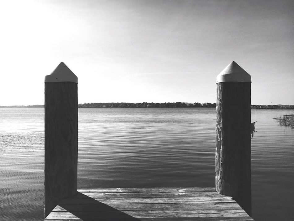 Sea Water Sky Nature Horizon Over Water Day Tranquility Beauty In Nature Built Structure Wood - Material Tranquil Scene Outdoors No People Clear Sky Scenics Architecture Beach Wood Paneling Post