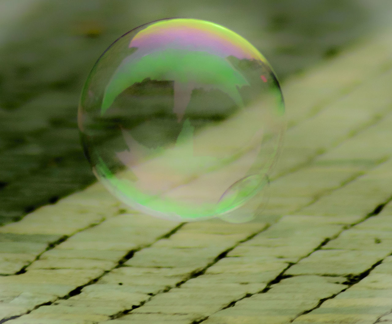 bubble, fragility, bubble wand, no people, reflection, close-up, crystal ball, refraction, spectrum, day, outdoors