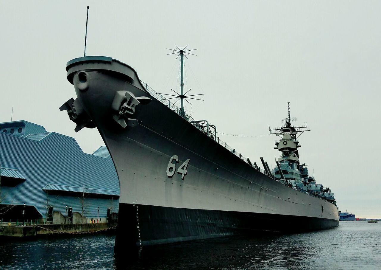 Military Life Us Military US Navy Battleship Worldwar 2 Sailors Historical Sites USS Wisconsin BB-64 NorfolkVA Tourist Attraction