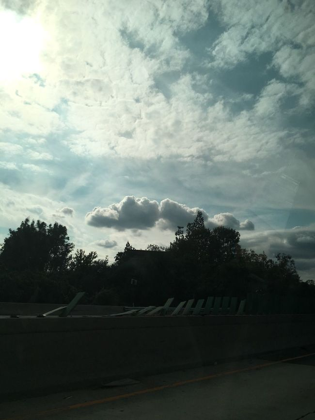Blue cloudy skies is when the sun somewhat hides Magical Dreaming Dream Cloud Clouds And Sky Is It Real? Fantasy Blue New