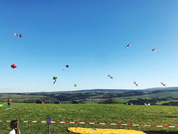 Drachenfest Flying Nature Blue Clear Sky Beauty In Nature