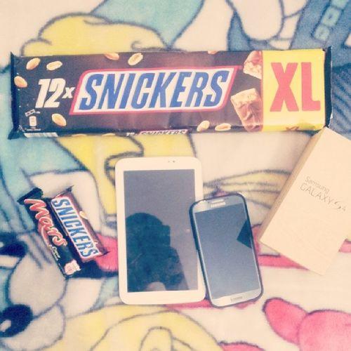 Snickers Galaxys4 Tab3 Mars choclat :D