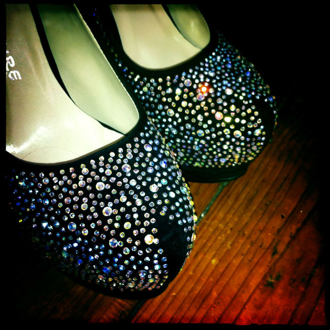 My friend has a fine collection of sparkly shoes. Close-up Decadent Diamonds Feminine  Gems Glitter High Heels Hipstamaic IPhone Jewels No People Shine Shoes Sparkle Square Still Life Toes