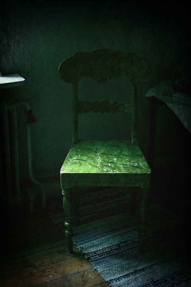 The green chair MADE IN SWEDEN Architectureporn ArtWork Eye4photography