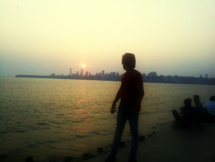 Hello World Check This Out That's Me @At First #before # Now #A Story Of A Heart Break Marine Drive Mumbaibeach