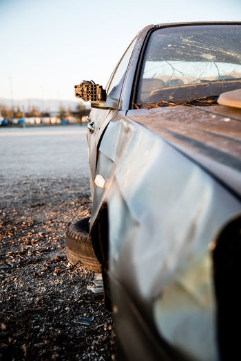Abandoned Abandoned Car Broken Car Broken Down Broken Down Car Car Close-up Cracked Dusk Dusty Car Stripped Cat Vandalism Vandalized
