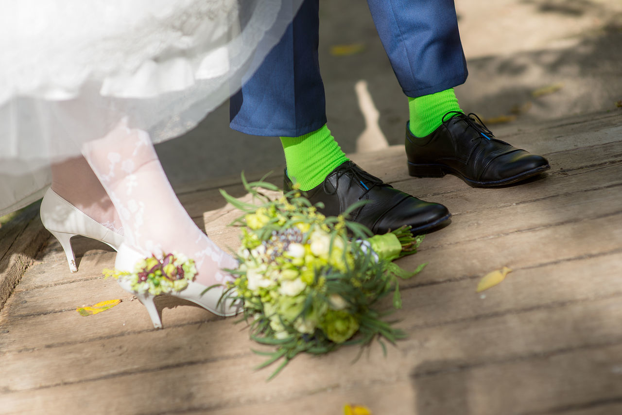 Backgrounds Bouquet Bridal Bouquet Bride And Groom Close-up Dress EyeEmNewHere Green Green Socks Green Stockings Human Body Part Human Leg Shoes Sock Socks Stockings Wedding Wedding Details Wedding Photography White Lieblingsteil