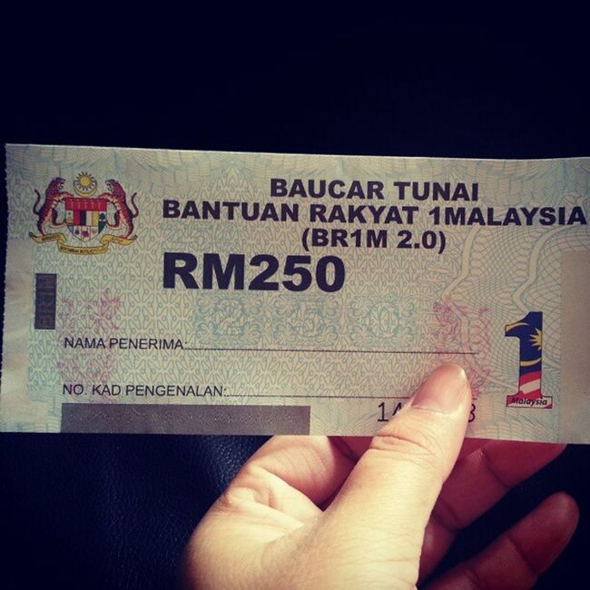 Thanks PM ♥ 1malaysia BRIM2 .0 Malaysia Baucartunai asterinasazalie love sunday february 2013