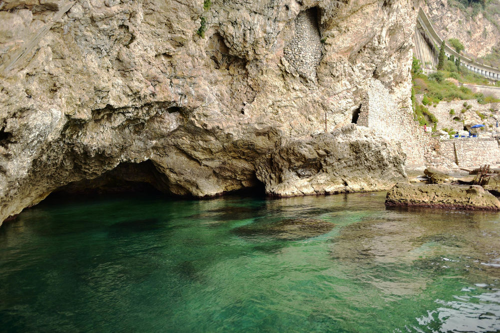 Beauty In Nature Day Grotte Nature Rock - Object Rock Formation Taormina Sicily Waterfront