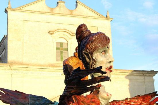 Carnival at Latiano. #Sunday #allegoricalcarnival #carnaval #carts #creepyimage #divinecommedy #harpies #harpy Human Representation