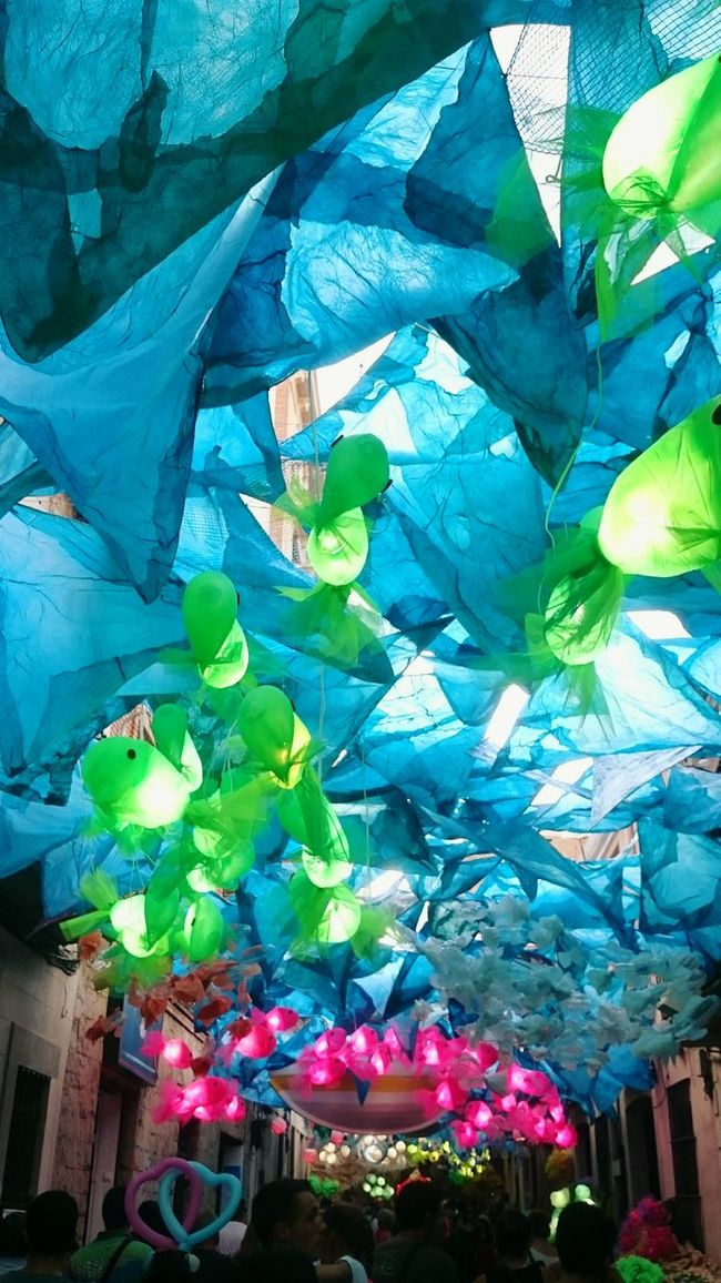 Decoration Multi Colored Coulourful Fiestasdegracia GraciaBarcelona Bright Colours Underthesea Coulours  Barcelona Sea Fishes 🐠 Streetdecoration