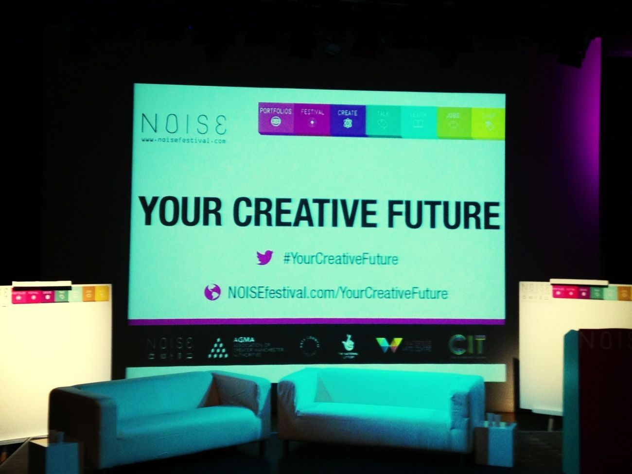 Setting up at #yourcreativefuture