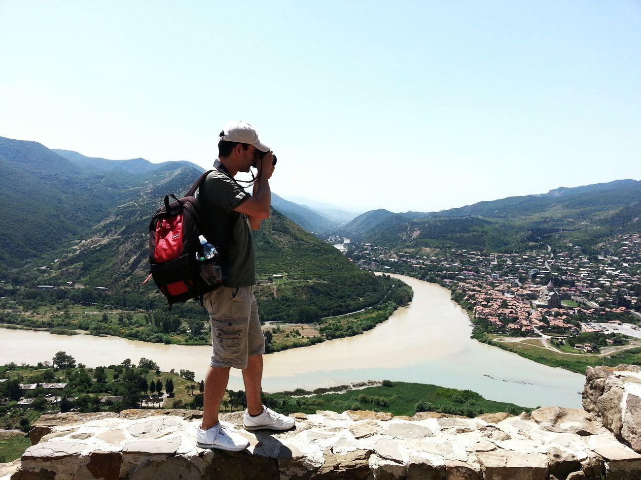 At Jvari monastery, overlooking Mtskheta. DiscoverGeorgia Saqartvelo Travelingtheworld
