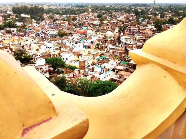 Barsane view from radha rani temple Barsanaholi awesome view color of life